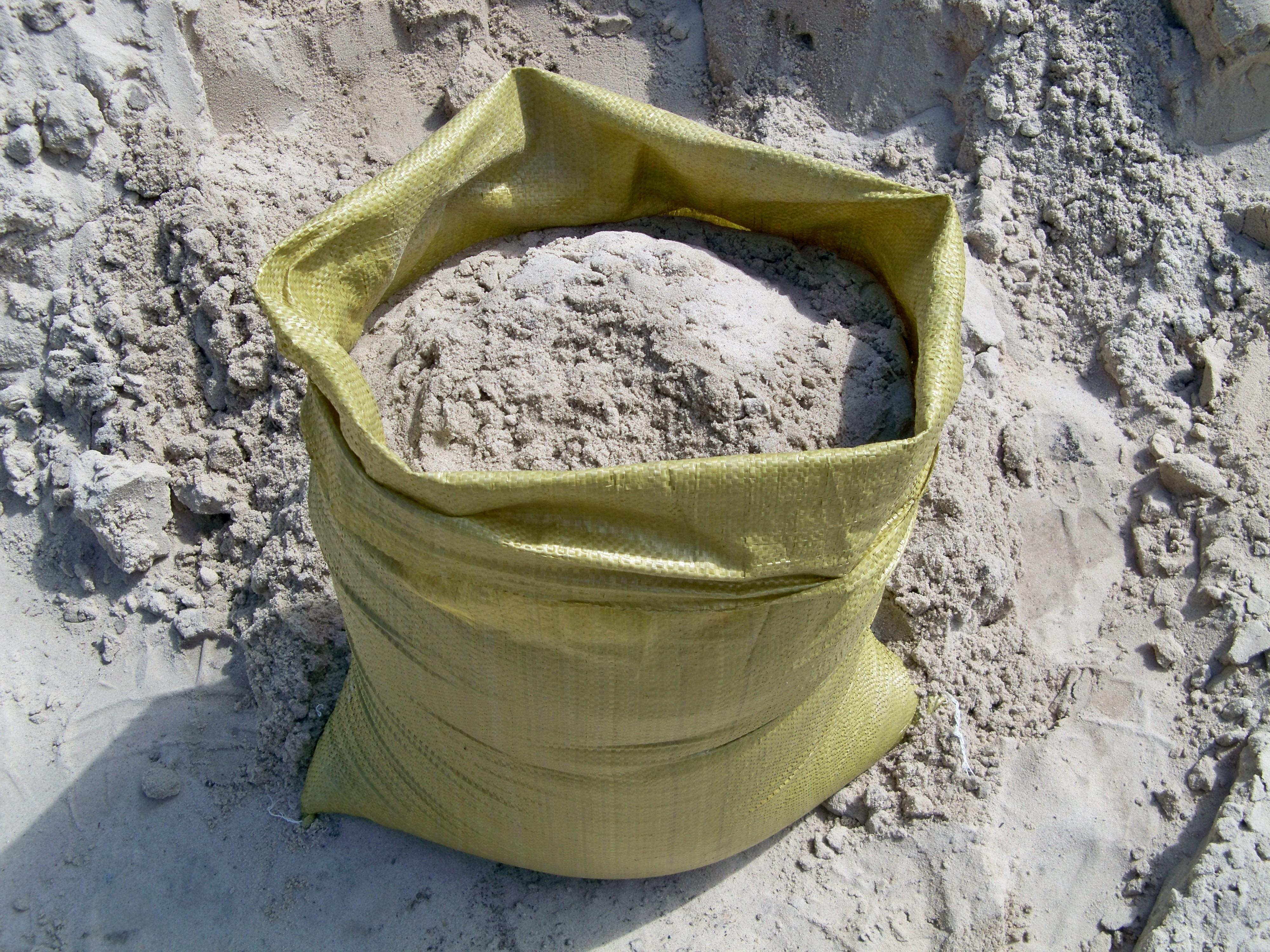 Песок в мешках картинка